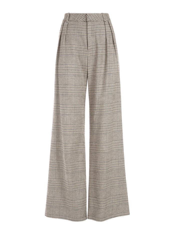 ERIC HIGH WAISTED PANT - AFTERGLOW PLAID - Alice And Olivia