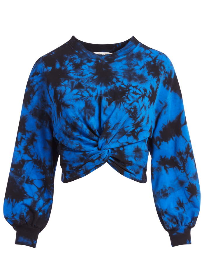 MARCELLE TIE DYE TOP - NAVY/BLACK - Alice And Olivia