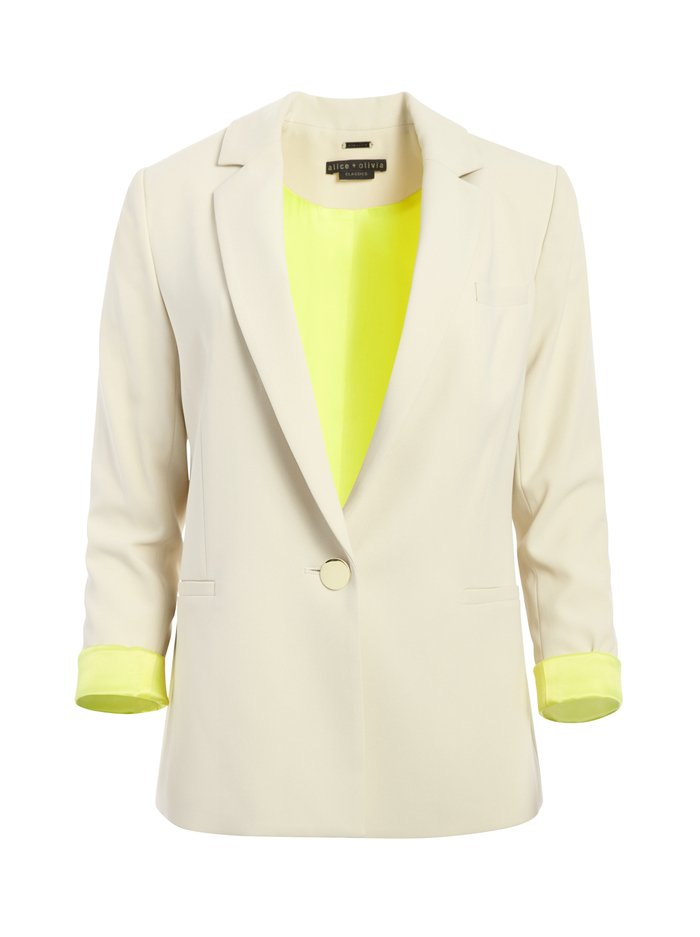 BERGEN LOOSE BLAZER - TAUPE - Alice And Olivia