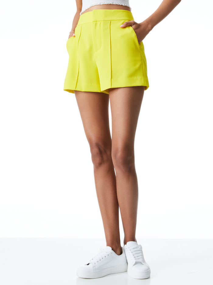DYLAN HIGH WAISTED PINTUCK SHORT - SUNBEAM - Alice And Olivia