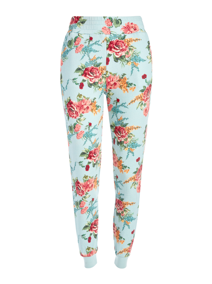 NYC FLORAL SLIM JOGGER - FLORAL EXPRESS SM WATERFALL - Alice And Olivia
