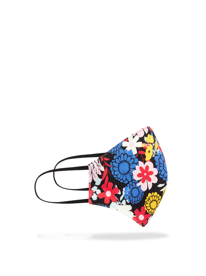 ABBI STRUCTURED FACE MASK - ONE LOVE FLORAL - Alice And Olivia