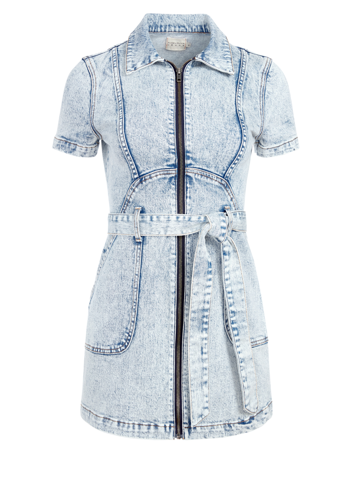 GORGEOUS ZIP UP MINI DRESS - ROAD TRIP - Alice And Olivia