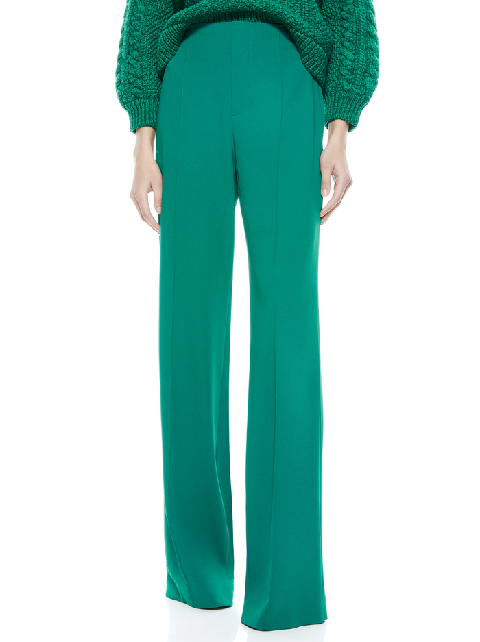 DYLAN HIGH WAISTED PANT - DARK TEAL - Alice And Olivia