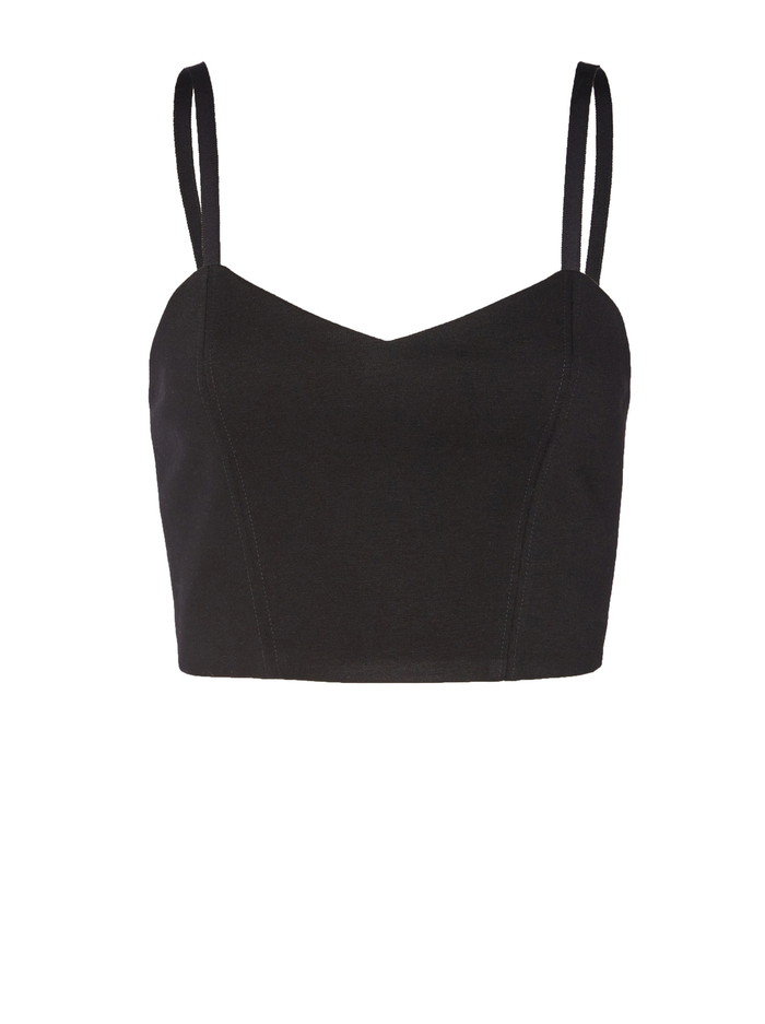 ARCHER CROPPED CAMI - BLACK - Alice And Olivia