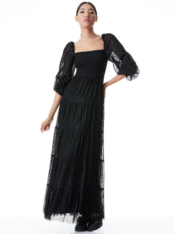 COOPER LACE MAXI DRESS - BLACK - Alice And Olivia