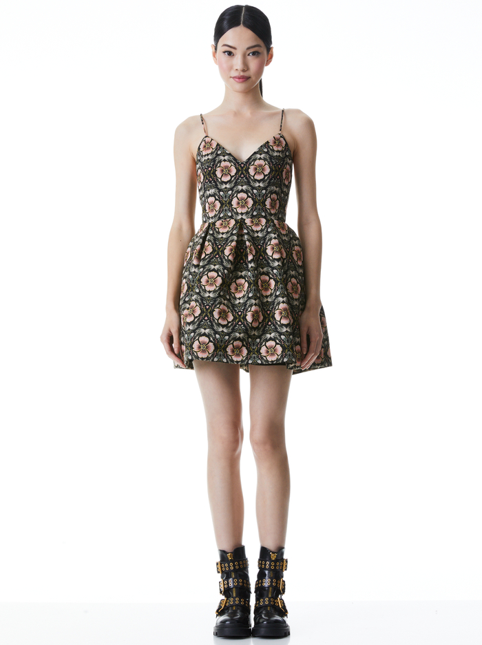 MADISON FLORAL MINI DRESS - PROMISE FLORAL - Alice And Olivia
