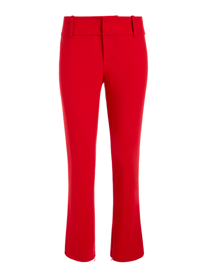 STACEY SLIM ANKLE PANT - RUBY - Alice And Olivia