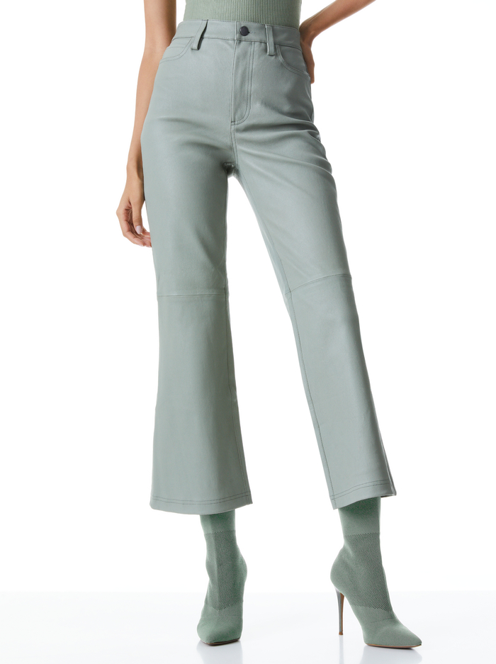MARSHALL HIGH RISE LEATHER BELL - SAGE - Alice And Olivia