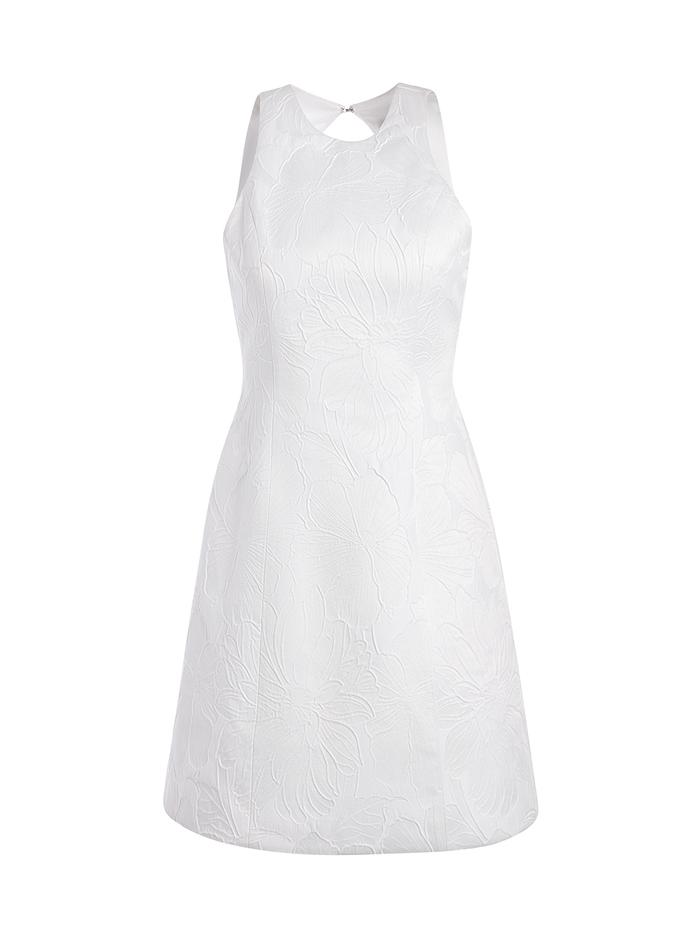 CORALIA FLORAL WHITE MINI DRESS - WHITE - Alice And Olivia