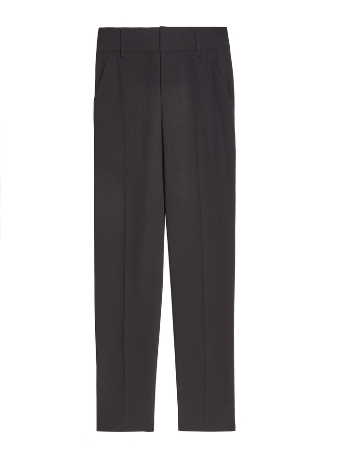 Stacey Slim Light Weight Trouser - BLACK - Alice And Olivia