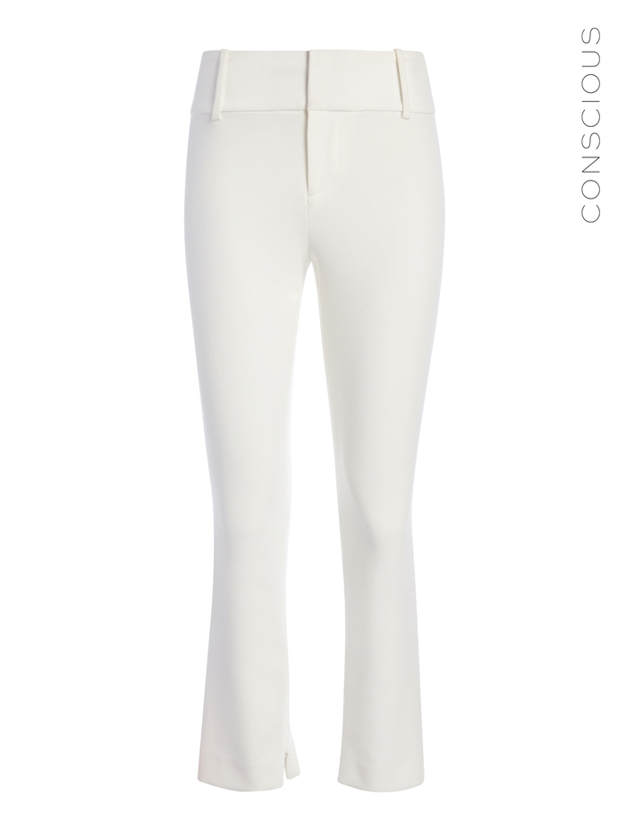 STACEY SLIM ANKLE PANT - OFF WHITE - Alice And Olivia