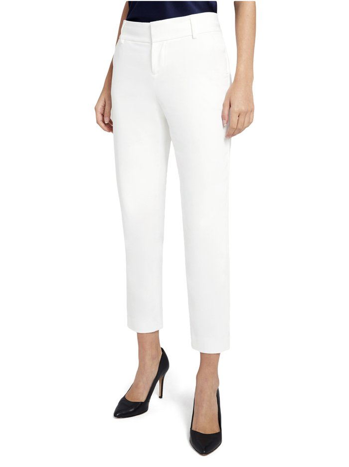 STACEY SLIM TROUSER - WHITE - Alice And Olivia