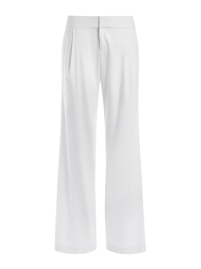 ERIC WIDE LEG LINEN PANT - WHITE - Alice And Olivia