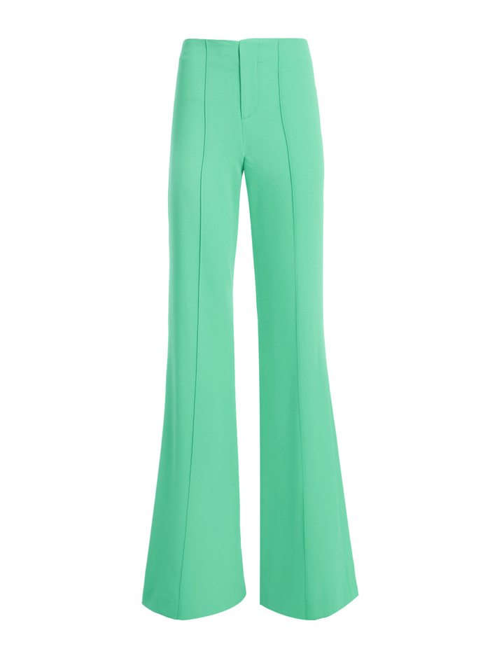 DYLAN HIGH WAISTED WIDE LEG PANT - JADE - Alice And Olivia