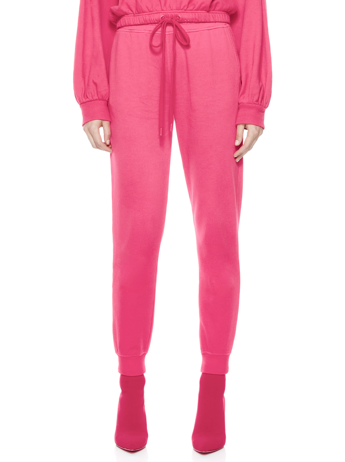 NYC SLIM JOGGER - WILD PINK - Alice And Olivia