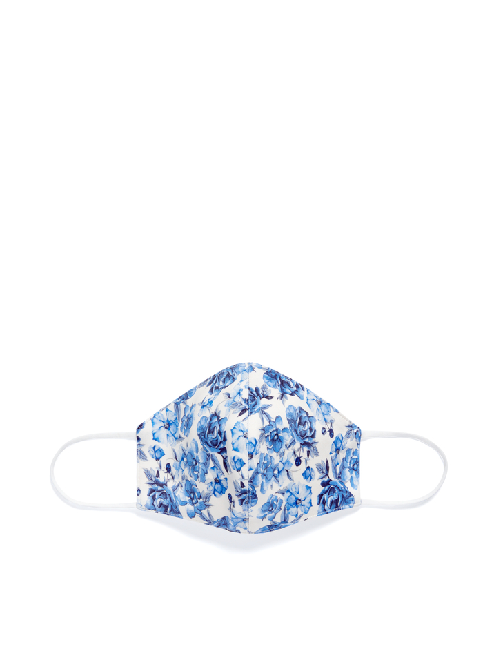 ABBI STRUCTURED FACE MASK - FORGET ME NOT SM ANTIQUE WHITE - Alice And Olivia