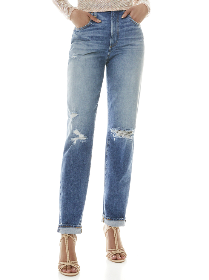 KATERINA HIGH WAIST BAGGY JEAN - BEST INTENTIONS - Alice And Olivia
