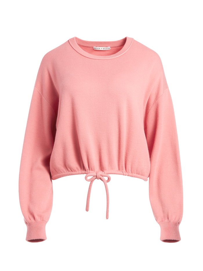 BERNETTA PULLOVER WITH DRAWSTRING - ROSE - Alice And Olivia
