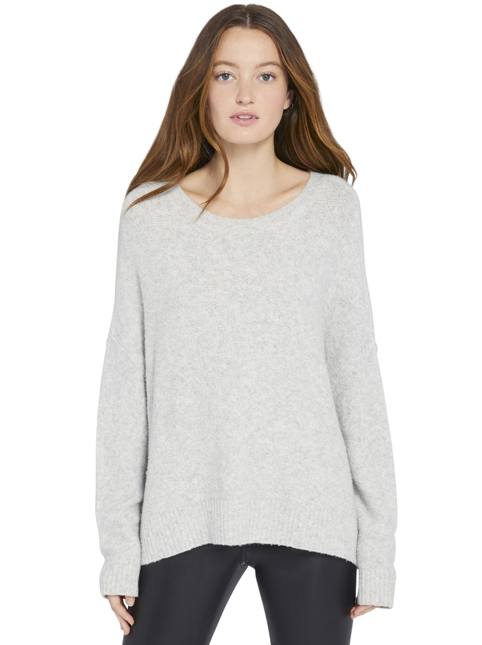 ROMA SLOUCHY PULLOVER - HEATHER GREY - Alice And Olivia