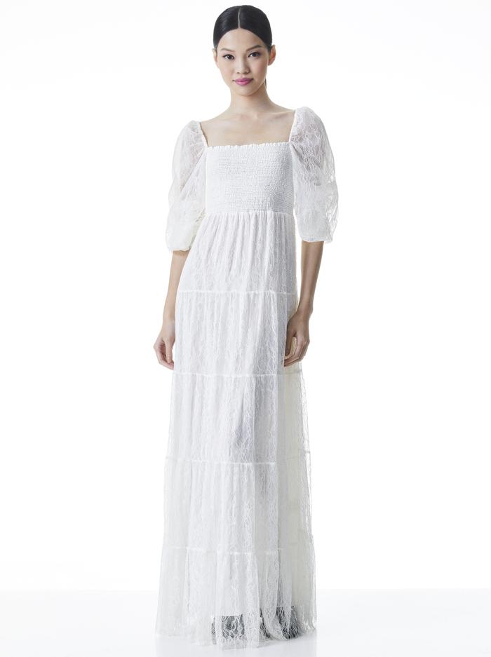 COOPER LACE MAXI DRESS - OFF WHITE - Alice And Olivia