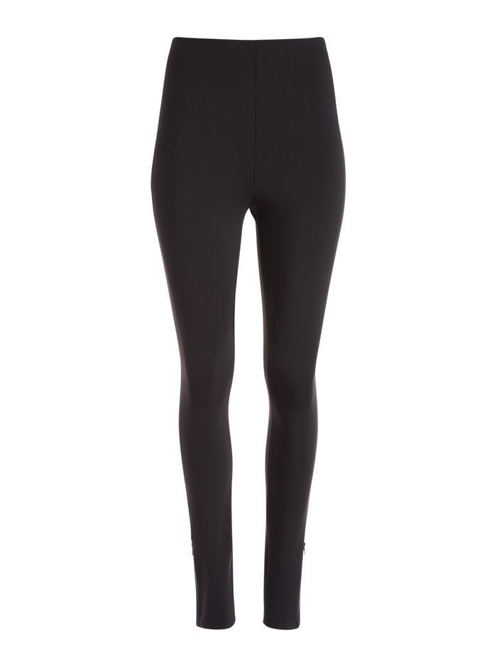 MADDOX BACK ZIP LEGGING  - BLACK - Alice And Olivia