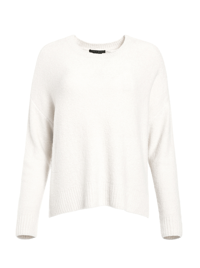 ROMA OVERSIZED PULLOVER - SOFT WHITE - Alice And Olivia