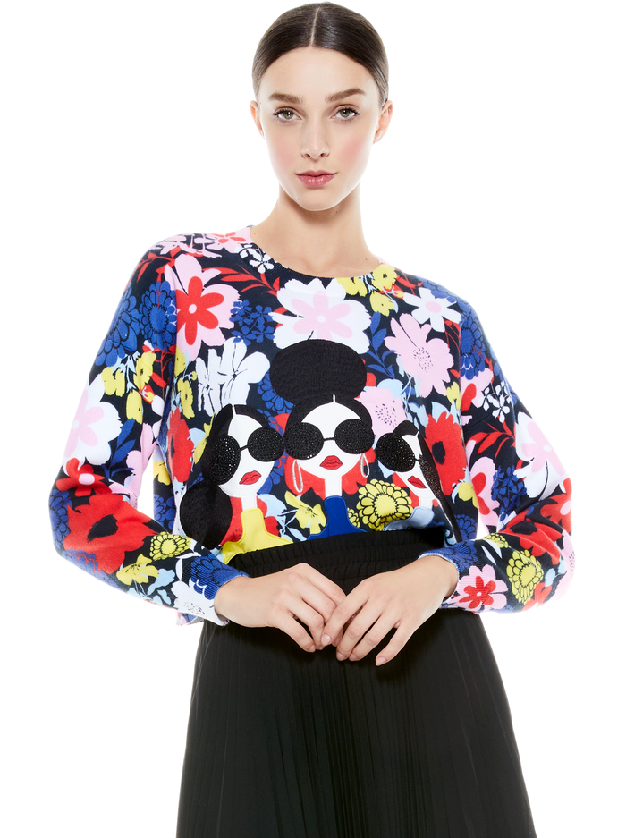 NYLA STACEFACE PULLOVER - MULTI - Alice And Olivia