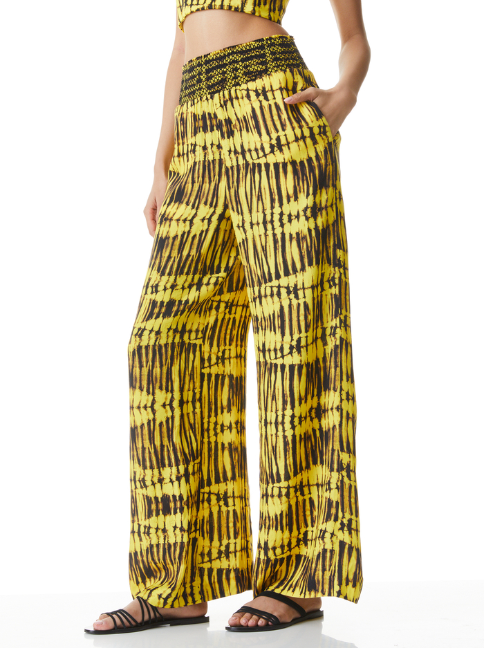 RUSSELL HIGH WAIST PANT - SUN DRENCHED SUNBEAM - Alice And Olivia