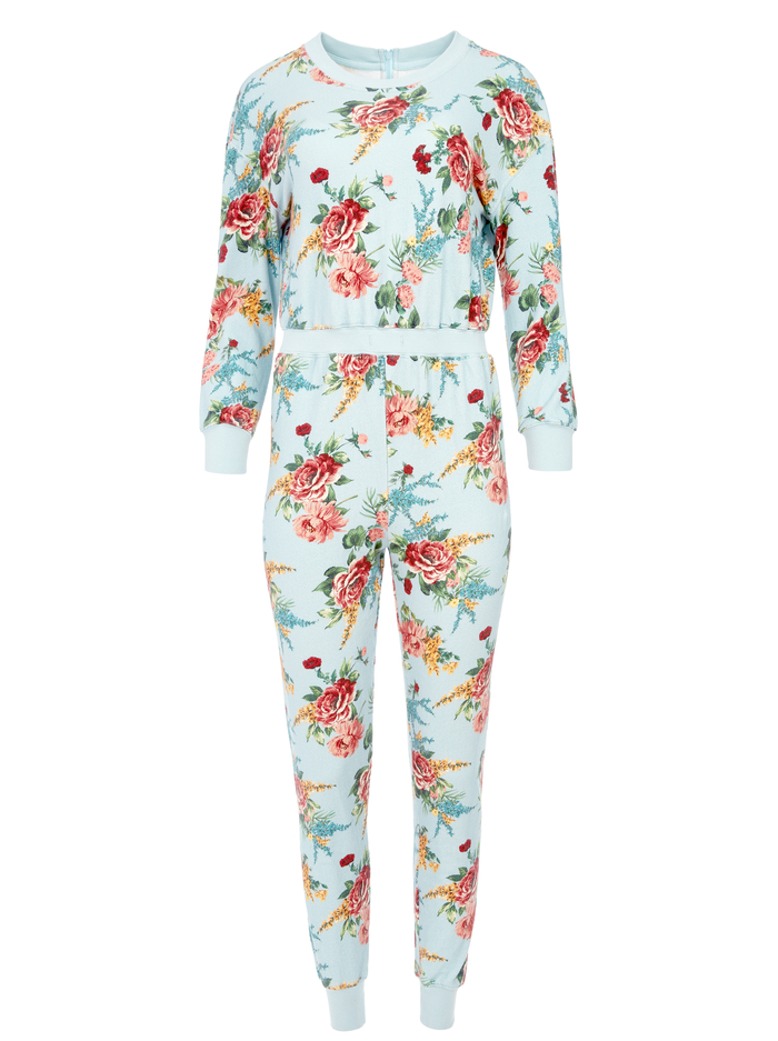 NIKITA FLORAL JUMPSUIT - FLORAL EXPRESS SM WATERFALL - Alice And Olivia
