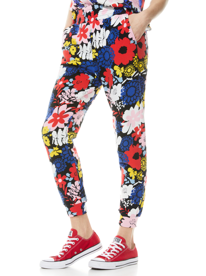 NYC SLIM JOGGER - ONE LOVE FLORAL - Alice And Olivia