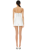 CONRY VEGAN LEATHER SHORT - OFF WHITE