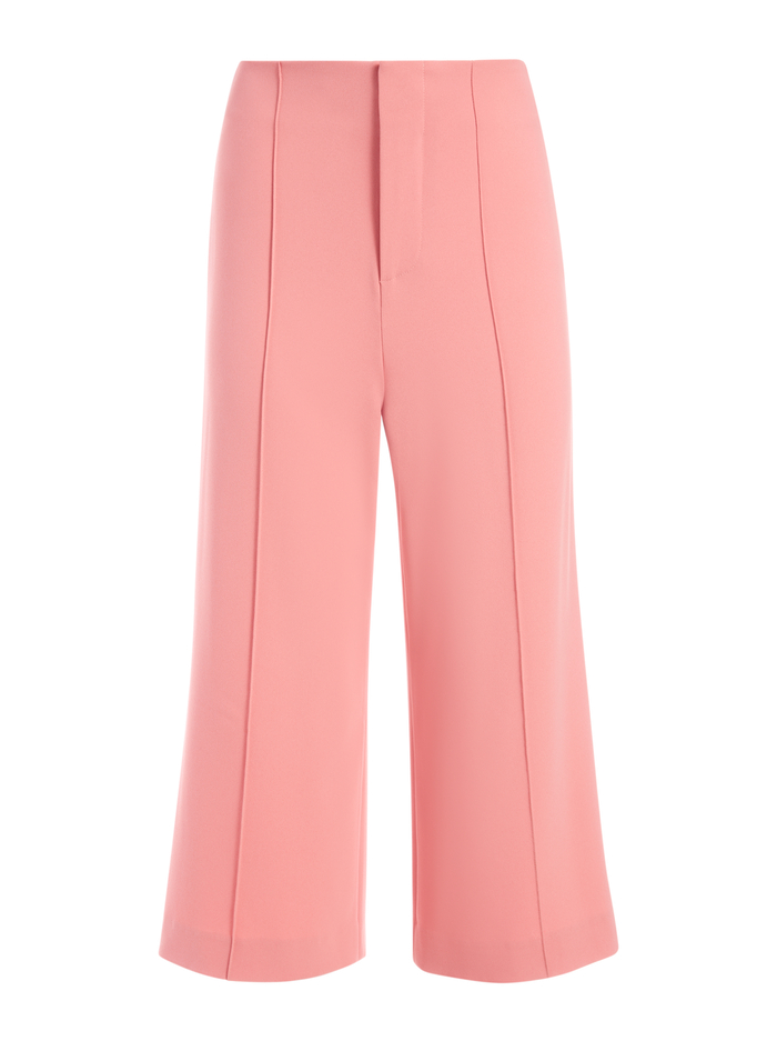 DYLAN HIGH WAISTED WIDE LEG PANT - ROSE - Alice And Olivia