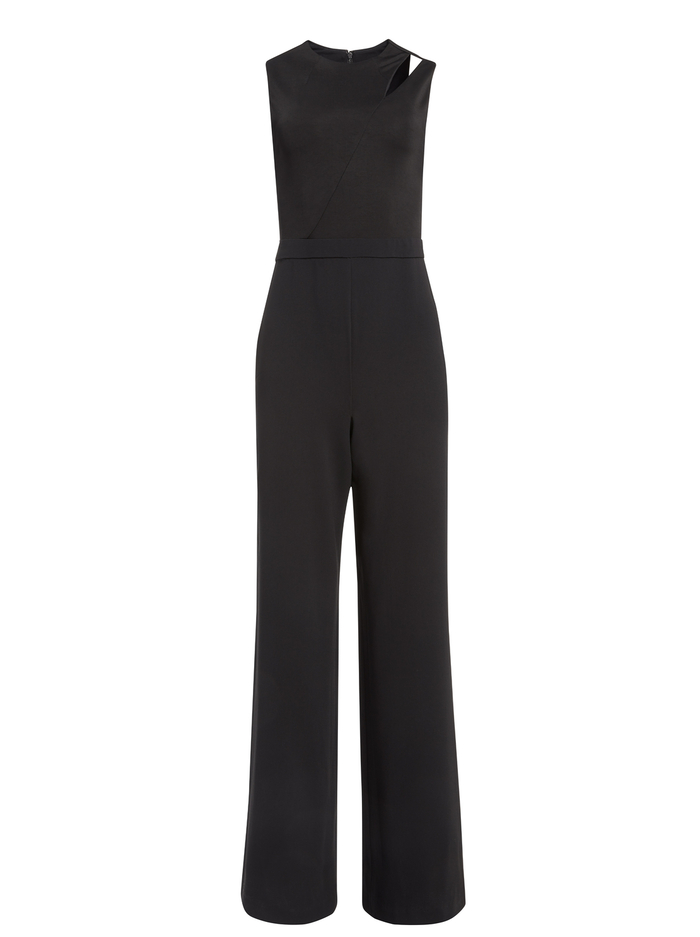 IVY FITTED CUT OUT JUMPSUIT - BLACK - Alice And Olivia
