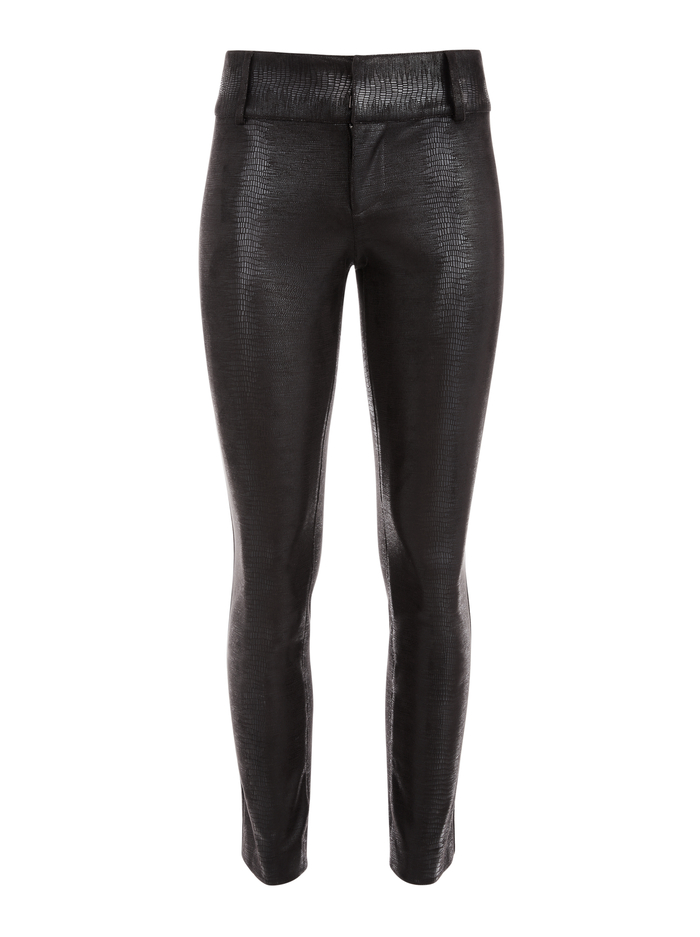 STACEY VEGAN LEATHER ANKLE PANT - BLACK - Alice And Olivia