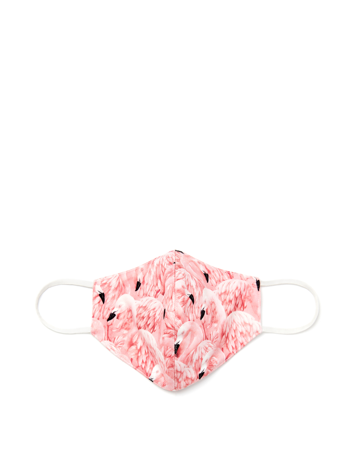 ABBI STRUCTURED FACE MASK - SIXTIES FLAMINGO - Alice And Olivia