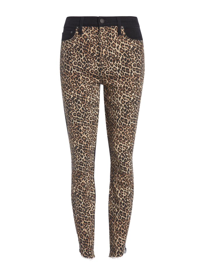 GOOD HIGH RISE LEOPARD SKINNY JEAN - QUEEN OF THE NIGHT - Alice And Olivia