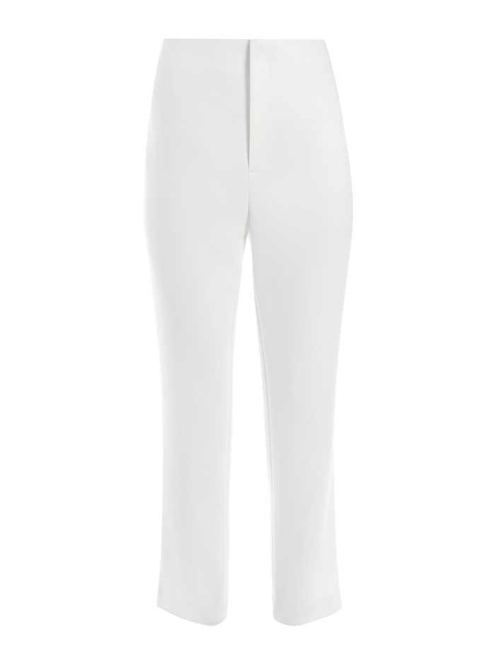 LORINDA HIGH WAISTED CROP PANT - OFF WHITE - Alice And Olivia