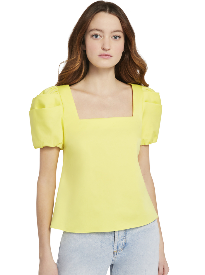BERNICE PUFF SLEEVE TOP - DAFFODIL - Alice And Olivia