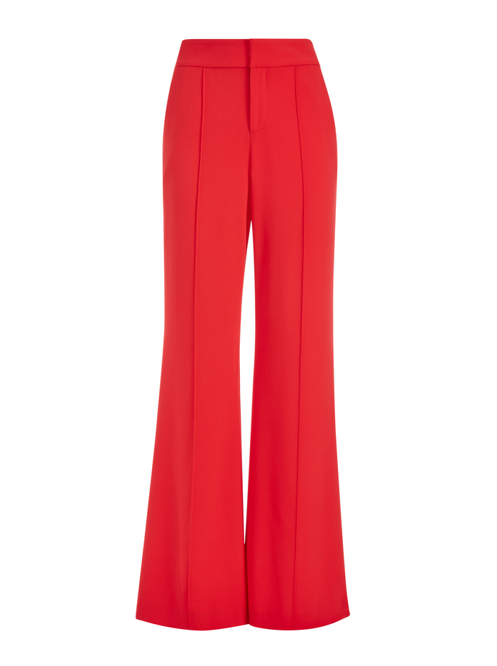 DYLAN HW WIDE LEG PANT - BRIGHT POPPY - Alice And Olivia