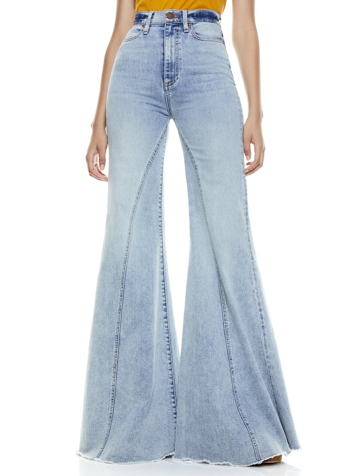 BEAUTIFUL SEAMED WIDE LEG JEAN - WILDFIRE - Alice And Olivia