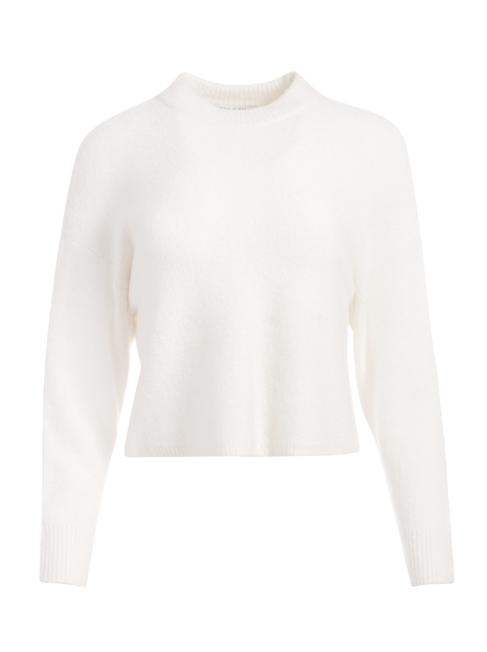 MAXDEN CROPPED PULLOVER - SOFT WHITE - Alice And Olivia