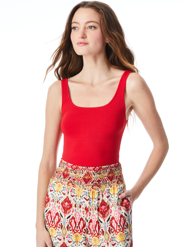 DARYN CROPPED TANK - RUBY - Alice And Olivia