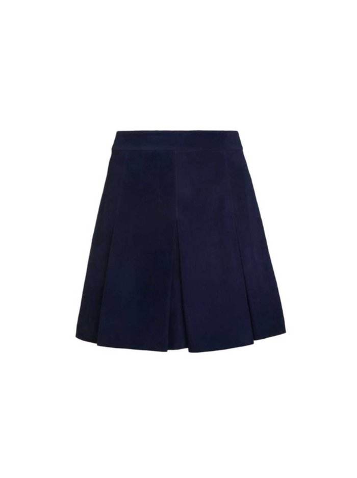 LEE SUEDE MINI SKIRT - NAVY - Alice And Olivia