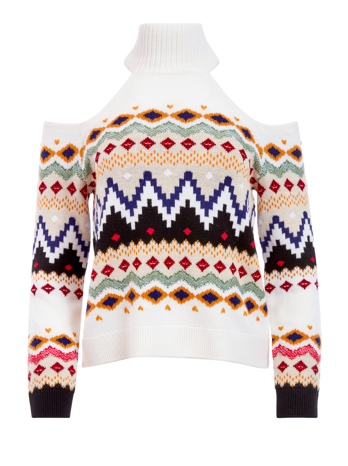 LEORA FAIRISLE TURTLENECK - MULTI - Alice And Olivia