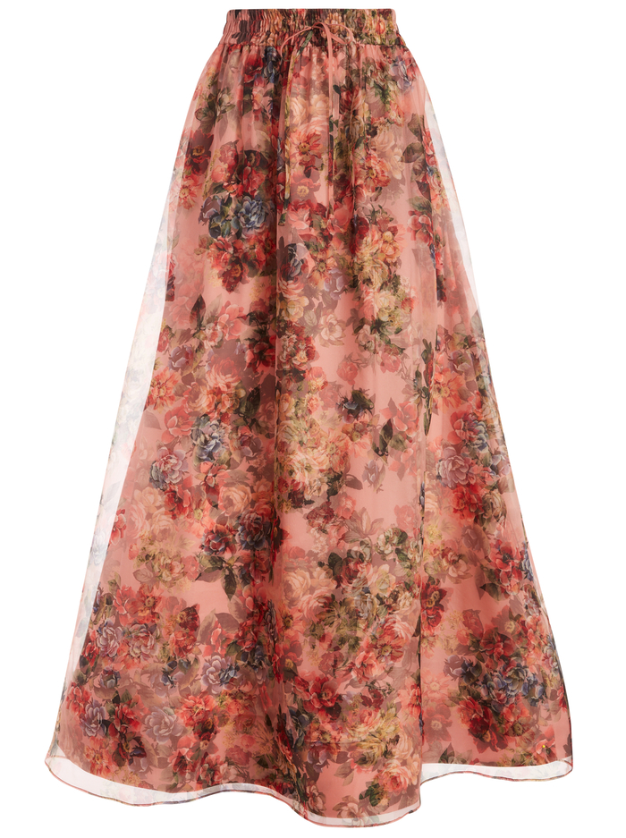 DIXIE ANKLE LENGTH GOWN SKIRT - CLOUD DANCER ROSE TAN - Alice And Olivia