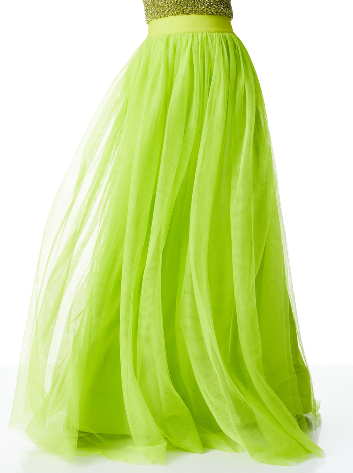 CATRINA MAXI GOWN SKIRT - LIME PUNCH - Alice And Olivia