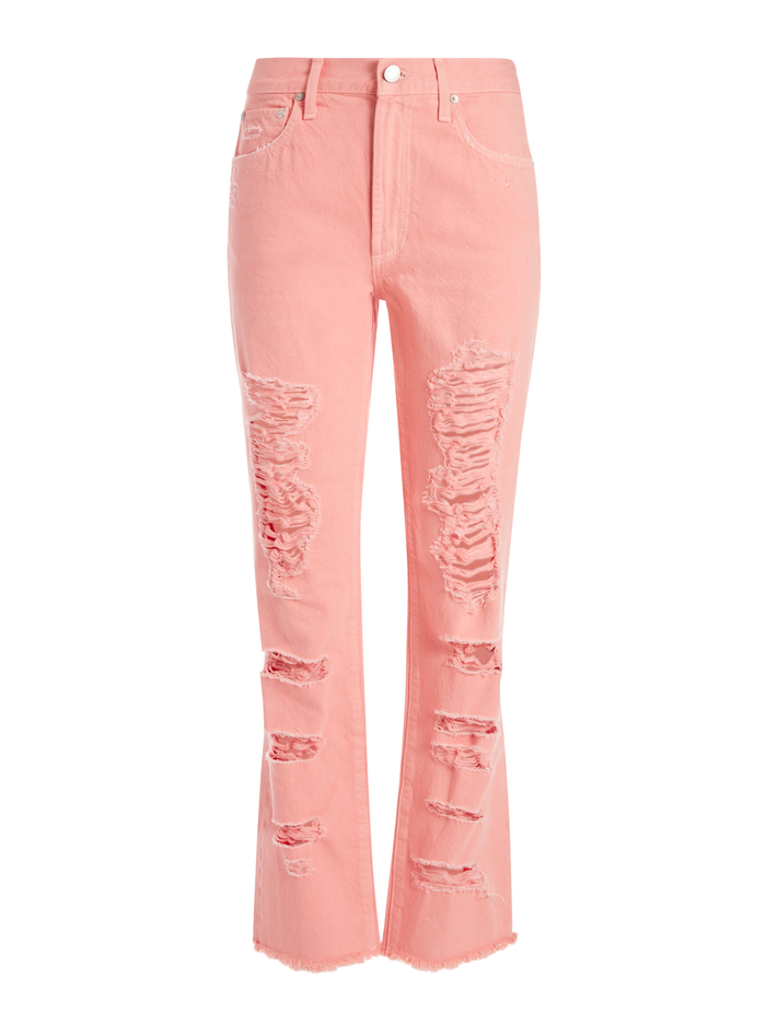 AMAZING GENEVIVE DISTRESSED JEAN - ROSE - Alice And Olivia