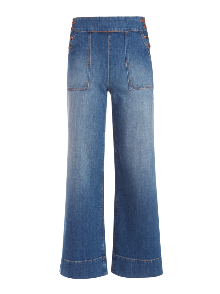 DONALD HIGH RISE WIDE LEG JEAN - OFF THE CUFF - Alice And Olivia