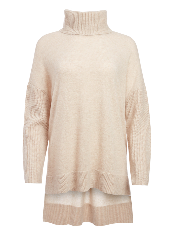 SAWYER TURTLENECK PULLOVER - OATMEAL - Alice And Olivia